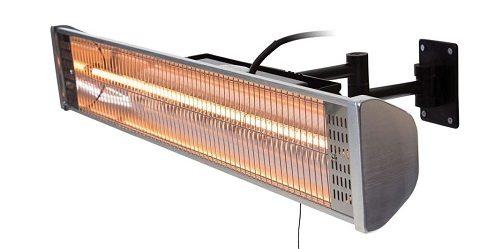Sunred Terrassevarmer 1800 W hagolen sølv HWM18